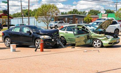 A driver who ran a red light caused an injury crash at the intersection of Rhoades and Wagner Avenue.