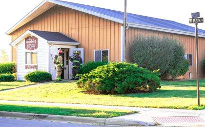 Firefighters from several departments responded to the Rossburg Municipal Building on the report of a mulch fire that spread to the building.