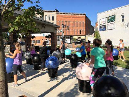 Cardio drumming has been one of the fun classes being offered at the YOLO Urban Park.