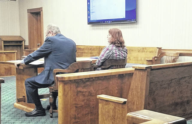 Bethany J. Royer-DeLong | Darke County Media Caitlon S. Nunley, 25, of Greenville, accused of trafficking, a second-degree felony, was in Darke County Common Pleas Court for a bench trial on Tuesday.