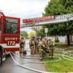 Home heavily damaged in fire