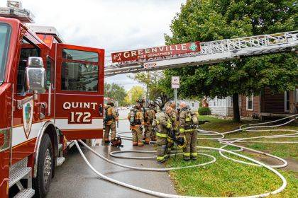 The City of Greenville Fire Department was joined by firefighters from New Madison and Versailles at a two-alarm fire.