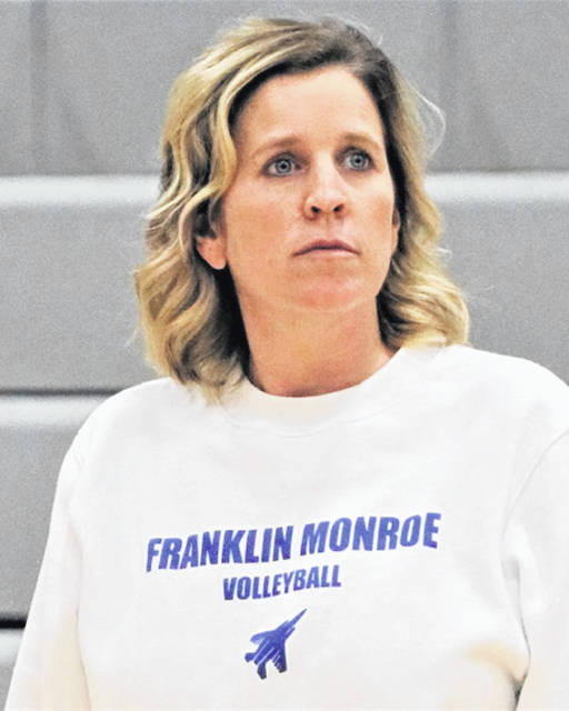 2019 Cross County Conference Volleyball Coach of the Year; Franklin Monroe's Angie Filbrun.