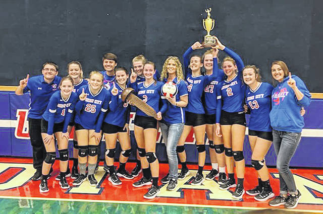 The 2019 Randolph County Volleyball Tournament Champs – the Union City Lady Indians.
