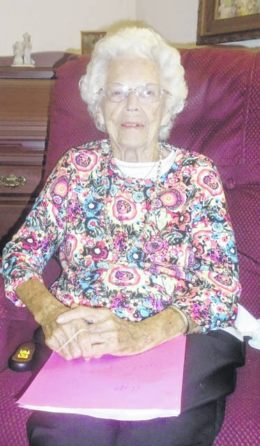 Inez Clevenger likes to keep busy daily. She helps out the staff and residents at the assisted living facility she has lived in the last 16 years. She turns 104 on Monday.