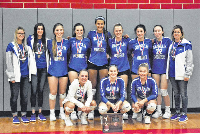 The 2019 Franklin Monroe Lady Jets finish successful season with OHSAA D-IV district runner-up trophy.