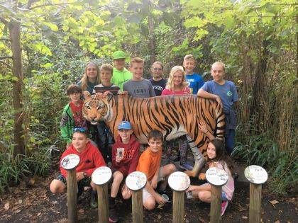 Students from DeColores Montessori School in Greenville participated in an overnight program at the Cincinnati Zoo.