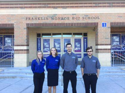 The Miami Valley Career Technology Center (MVCTC) Student Ambassadors visited Arcanum and Franklin Monroe sophomores on Wednesday, September 18. Ambassadors included Madison Green (Cosmetology/Tri-Village), Selene Weaver (Sports Medicine/Franklin Monroe), Jarod Hegemier (Architectural Design/Franklin Monroe), and Daniel Brown (Natural Resource Management/Eaton).