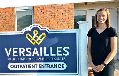 Katie Barga joined Versailles Rehabilitation & Healthcare Center in September.