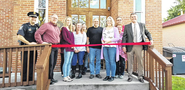 Bethany J. Royer-DeLong | Darke County Media The Village of Arcanum welcomed Little University with a ribbon-cutting on Tuesday. In attendance was Kathy Pearson, founder and owner, along with daycare staff, family members, and village officials.