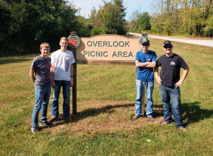 The Franklin Monroe-MVCTC FFA Rural Soils Judging Team included members Mitchell Schmitmeyer, Mason Garber, Walker Lindemuth, and Austin Cool.