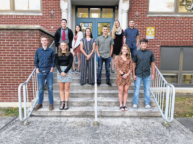 The Tri-Village 2019 Homecoming Court has been announced as follows: front row, left to right, Carsen Munchel, Lissa Siler, Andi Bietry, and Cody Eyer; middle row. left to right, Trisa Porter and Zacharie Dowler; top row, left to right, Javier Ramirez, Tara Tankersley, Maddie Downing, and Mason Lay. The Homecoming game against National Trail will begin at 7 p.m. Oct. 4, with the Homecoming Dance set for Saturday, Oct. 5, from 8-11 p.m.