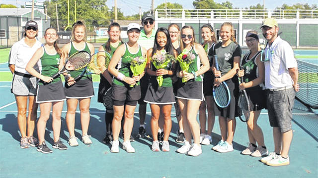 The 2019 Greenville Lady Wave tennis team.