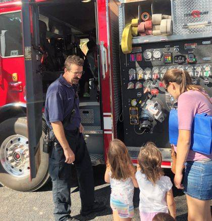 "<p class=""body"">ARCANUM – Children who attended StoryTime at the APL on Oct. 1 got to meet some special guests. Members of the Arcanum Fire Department gave a safety demonstration for the kids, and showed off some of their gear and the fire truck. A great big thank-you to the firefighters that attended."