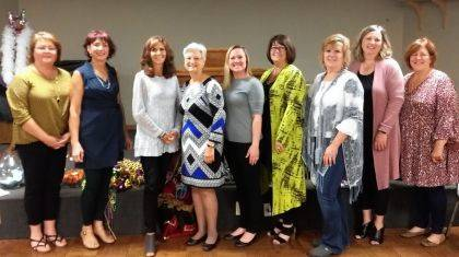 What a Girls Wants Guest Night Committee are Vicki Cost, Deb Niekamp (Chair), Susan Fowble, Peggy Foutz, Desteni Mason, Kristina Heath, Kim Fisher, Susan Shields, and Deb Shiverdecker. Not pictured is Lucie Pohl.