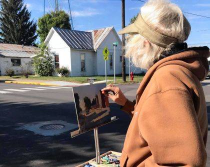 Carol Strock Wasson painted during the Plein Air Paint Out.