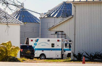 A 10-year-old child was injured after being run over at a farm outside of Arcanum.