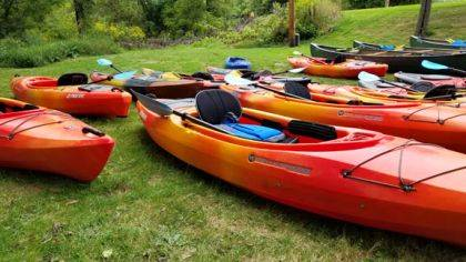 New kayaks and equipment were purchased with an ODNR grant.