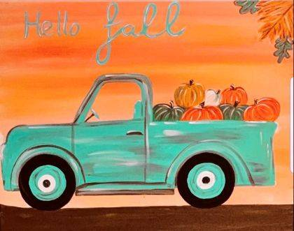 Participants in the Franklin Monroe FFA fundraiser will be painting the Hello Fall painting.