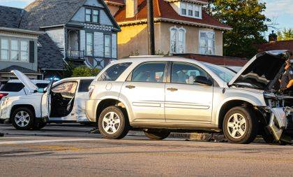 Both drivers in a two-vehicle crash escaped serious injury.
