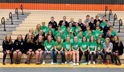 Shown are Versailles FFA members and officers who attended the statewide Greenhand Conference.