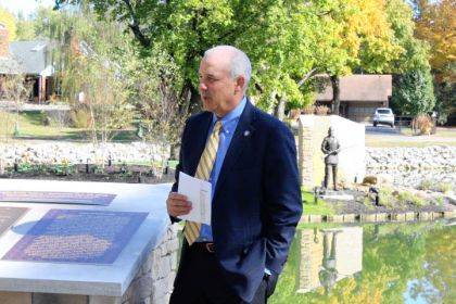 Ohio Senator Matt Huffman helped dedicate the completion of Little Turtle Island in the Greenville City Park.