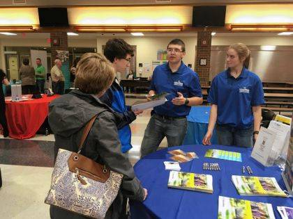 Edison students talked to FFA member Ian Gehret about future career paths.