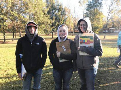 Members of the Versailles FFA that participated in the State Soil Judging Competition were Alex Kaiser, Sara Cavin, and Deanna Hesson.