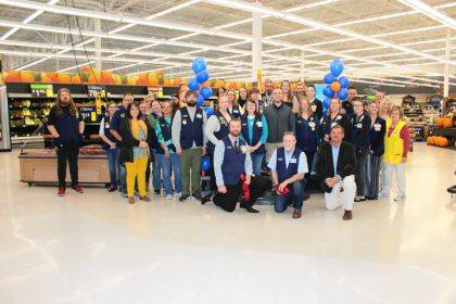 Walmart associates and community leaders celebrated the opening of the Greenville's store curbside grocery pickup.