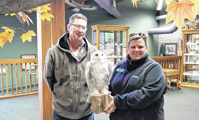 It was nearly two years ago that Steve Blakeley called naturalist, Mandy Martin, at Shawnee Prairie Preserve about a deceased Snowy Owl discovered on the grounds at Andersons Marathon Ethanol. Thanks to the Friends of the Parks, the bird is now preserved and will educate generations to come on this unique bird of prey.