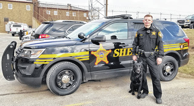 Deputy Colton Magel and his new K-9 partner, Deputy Bear, were certified and graduated as a K-9 unit fter 252 hours of training on Wednesday. The new team will be one of two K-9 units in the county.