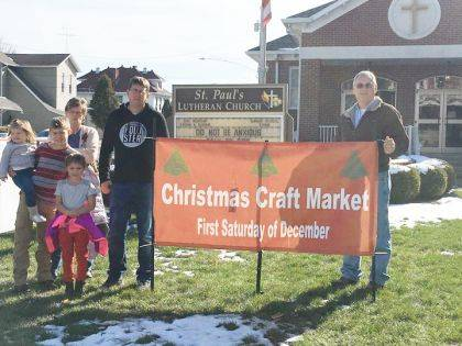 St. Paul's Lutheran Church is pleased to announce it will hold its Christmas Craft Market on Dec. 7.