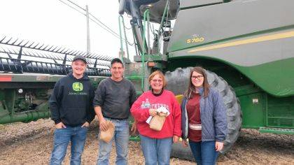 FFA Members Austin Cool and Kim Fourman are pictured with some of the many farmers that were given a meal during their annual Meals on Wheels activity.