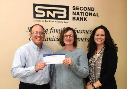 Brian Wagner, VP, mortgage loans and Antonia Baker, assistant trust & investments officer of Second National Bank are shown with Andrea Jordan, DCCA executive director. SNB is an Impresario Sponsor for the 2018-2019 DCCA Season.