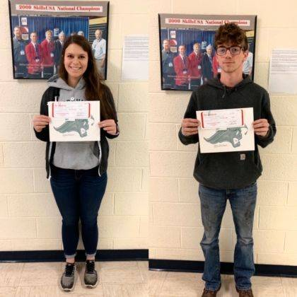 Carleigh Cox and Michael Cline were named Students of the Month for October.