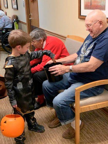 Local children were able to enjoy Halloween in a safe environment at Brookdale Assisted Living.