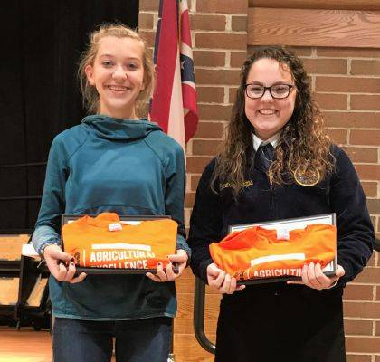 Lexie DeMange and Kaia Kruckeberg were named Versailles FFA November Members of the Month.