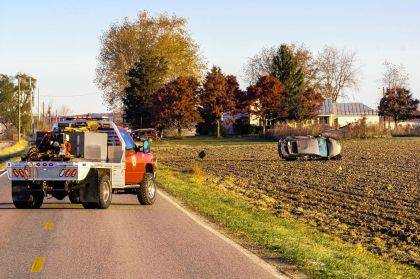 Darke County suffered its ninth fatality of 2019 when this vehicle went left of center and hit a mini-van and then rolling into a field.