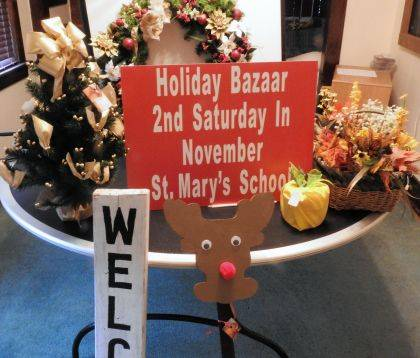 Shown are some of the items offered for sale at St. Mary's Bazaar.