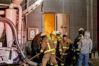Fire crews from multiple fire departments worked throughout the night to contain a silo fire.