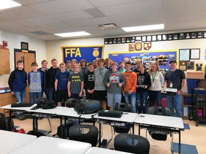 Mechanical Principles students had the opportunity to learn about welding and other career opportunities at Midmark through a recent presentation by Carrie Albers and Charles Swihart of Midmark, as well as learning about Hobart School of Welding Technology in Troy.