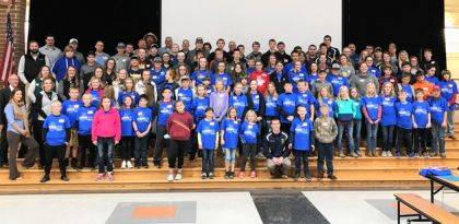 Shown are the youth and professionals who attended the Young Ag Conference – The Next Step sponsored by Versailles FFA through a grant by the Ohio Department of Agriculture.