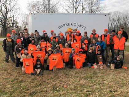 Shown are FFA members and youth who participated in the inaugural Youth Hunting Field Day sponsored by Versailles FFA and Darke County Pheasants Forever.