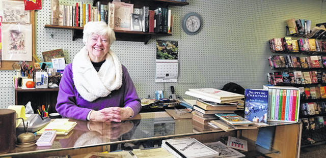 Bethany J. Royer-DeLong | Darke County Media Pam Shively has been the owner of The Book Store, on Pine Street, since 1989. The store was heavily damaged after an arson fire in Oct. 2018 but is once again open for business.