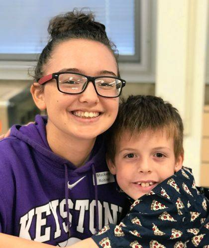 Big Buddy Mackenzey Robinson, and Little Buddy Markus Bryant are matched together through Big Brothers Big Sisters' after-school Big Buddies program. Mackenzey is the daughter of Amber Robinson and the late Tim Robinson. Markus is the son of Heather Rinderle.