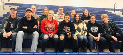 Students from the MVCTC FFA Chapter that attended the event were (back row) Audra Burger, Layla Hatfield, Justin McIntosh, Cheyenne Grow, Jenna Wheeler, (front row) Clem Montgomery, Brendan Wray, Emily Lupa, Anais Salgado-Kenniebrew, Simone King, Keara Peffly, and Christian Loveless. Not pictured are Jenna Godown, Jacob McIntosh, and Hannah Pemberton.