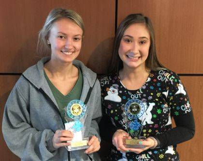 MVCTC December Health and Consumer Sciences Student of the Month for December are Riley Price and Emily Shafer.