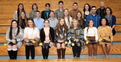 Shown are (top row) Sydney Howell (honorary), Isaac Shellabarger, Nathaniel Davis, Ethan Fee, Dean Sease, Matilda Earwood, and Officer Kelly Moody (honorary), (middle row) Rileigh Vance, Parker Schaar, Micah Stacy, Stella Shellabarger, Alyssa Suter, Jarod Hegemier, and Abbey Moore (honorary), (front row) Tristen Collins, Danielle Robinson, Riley Berry, Josie Patrick, Janessa Koffer, Allyce Bond, and Chloe Henninger.