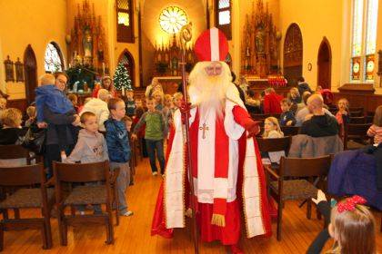 St. Nicholas visited children during a special celebration on Dec. 6.