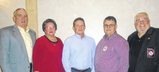 New officers of the Darke County Township Trustees for the coming year will be, from left to right, Treasurer Dave Bewer; Secretary Debbie Kuhnle; Vice President Ty House; President Curtis Yount; and Executive Secretary Ed Huff Jr.